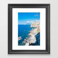 Italian Coastline Framed Art Print