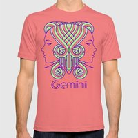 Deco Gemini Mens Fitted Tee Pomegranate SMALL
