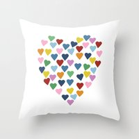 Hearts Heart Throw Pillow