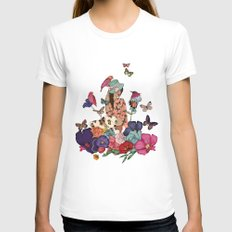 Color Splash Womens Fitted Tee White SMALL