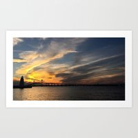 Sunset Cruise Art Print