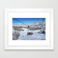 Summit Express Trio Framed Art Print