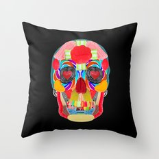 Sweet Sweet Sugar Skull On Black Throw Pillow