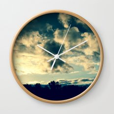 The Clouds Above Wall Clock