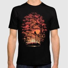 Burning In The Skies Black SMALL Mens Fitted Tee