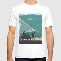 Airport Mens Fitted Tee White SMALL