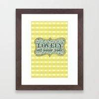 Lovely At Your Side Framed Art Print