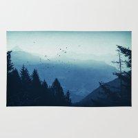 Blue Valmalenco - Alps at sunrise Rug