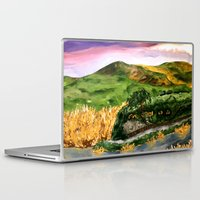 lord of the rings Laptop & iPad Skins featuring Lord of the Rings Hobbiton by KS Art & Design