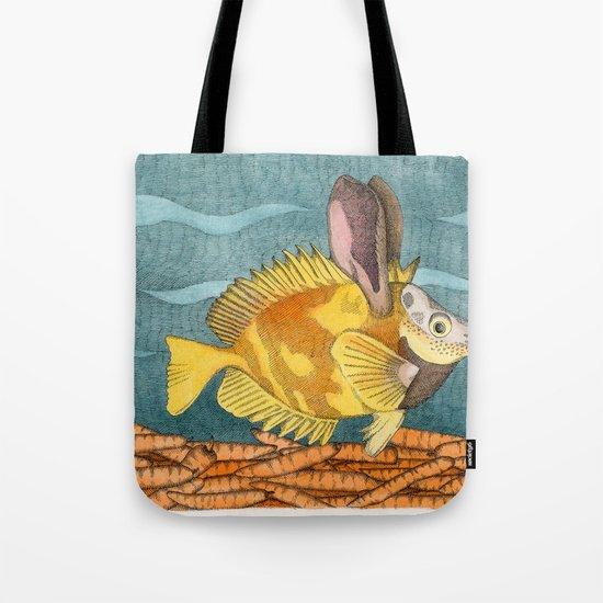 Foxface rabbit fish Tote Bag