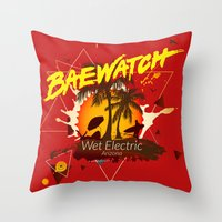 Baewatch - Wet Electric Throw Pillow