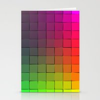Rainbow squares Stationery Cards