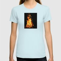 Fire demon Womens Fitted Tee Light Blue SMALL