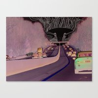 Road Monster Canvas Print