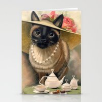 Lady Cat Stationery Cards