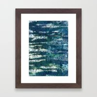 Patterned Crystals Framed Art Print