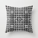 black dot system Throw Pillow