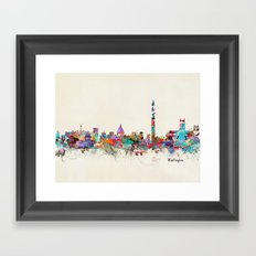 Washington dc skyline Framed Art Print