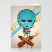 Art Skull Stationery Cards
