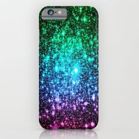 glitter iPhone & iPod Cases featuring glitter Cool Tone Ombre by 2sweet4words Designs