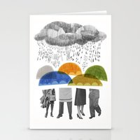cloudy days for uppercase mag Stationery Cards