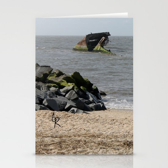 Cement Ship Stationery Card
