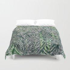 Snow Pines(Light Green) Duvet Cover