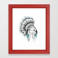 Indian Headdress Framed Art Print