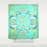 Aztec swan Shower Curtain