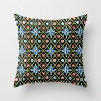 Millefiori Heraldic Lattice Throw Pillow