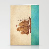 christmas Stationery Cards featuring Winged Odyssey by Terry Fan