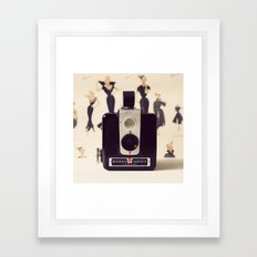 Vintage Brownie Camera Framed Art Print
