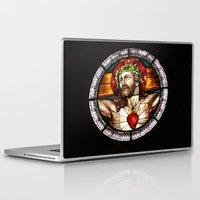 jesus Laptop & iPad Skins featuring Jesus by Gaby Mabromata