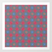 Spinners Pattern Art Print