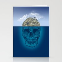 skull Stationery Cards featuring Skull Island by Rachel Caldwell