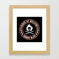 Rider of Hellfire Framed Art Print