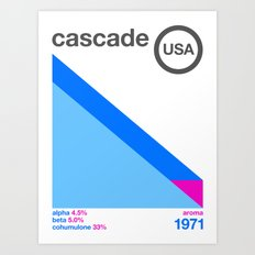 cascade//single hop Art Print