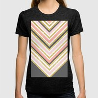 Stylish Boho Gray Pink C… Womens Fitted Tee Tri-Black SMALL