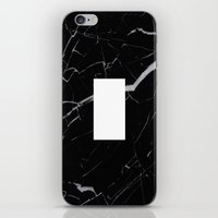 Black Marble - Alphabet I iPhone & iPod Skin