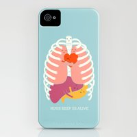 iPhone 4s & iPhone 4 Cases featuring Hug keep us alive by ilovedoodle