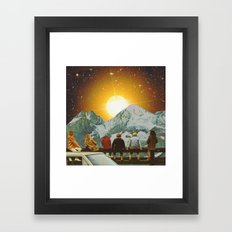 Children of mountain  Framed Art Print