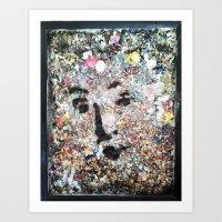 VENUSIAN FACE ON DRIED P… Art Print