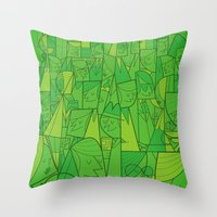 Citystreet (green Versio… Throw Pillow