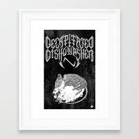 Decapitated by dishwasher II (black) Framed Art Print