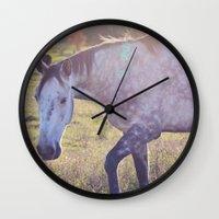 Star Horse Wall Clock