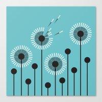 Dandelion Windblown Canvas Print