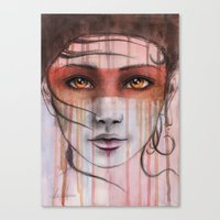 Amber Eyes Canvas Print