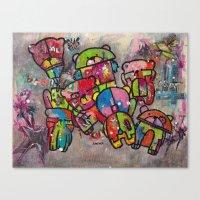 Robot Bears Canvas Print