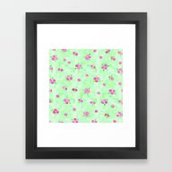 Framed Art Print featuring Floral Pattern 11 by Aloke Design
