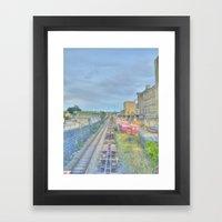 Down by the Tracks Framed Art Print